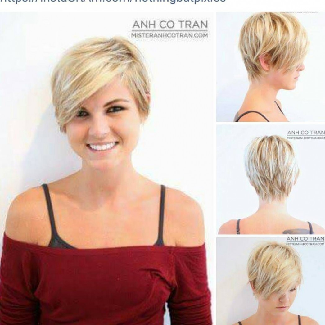 Pin On My Style Long Pixie Cut Round Face