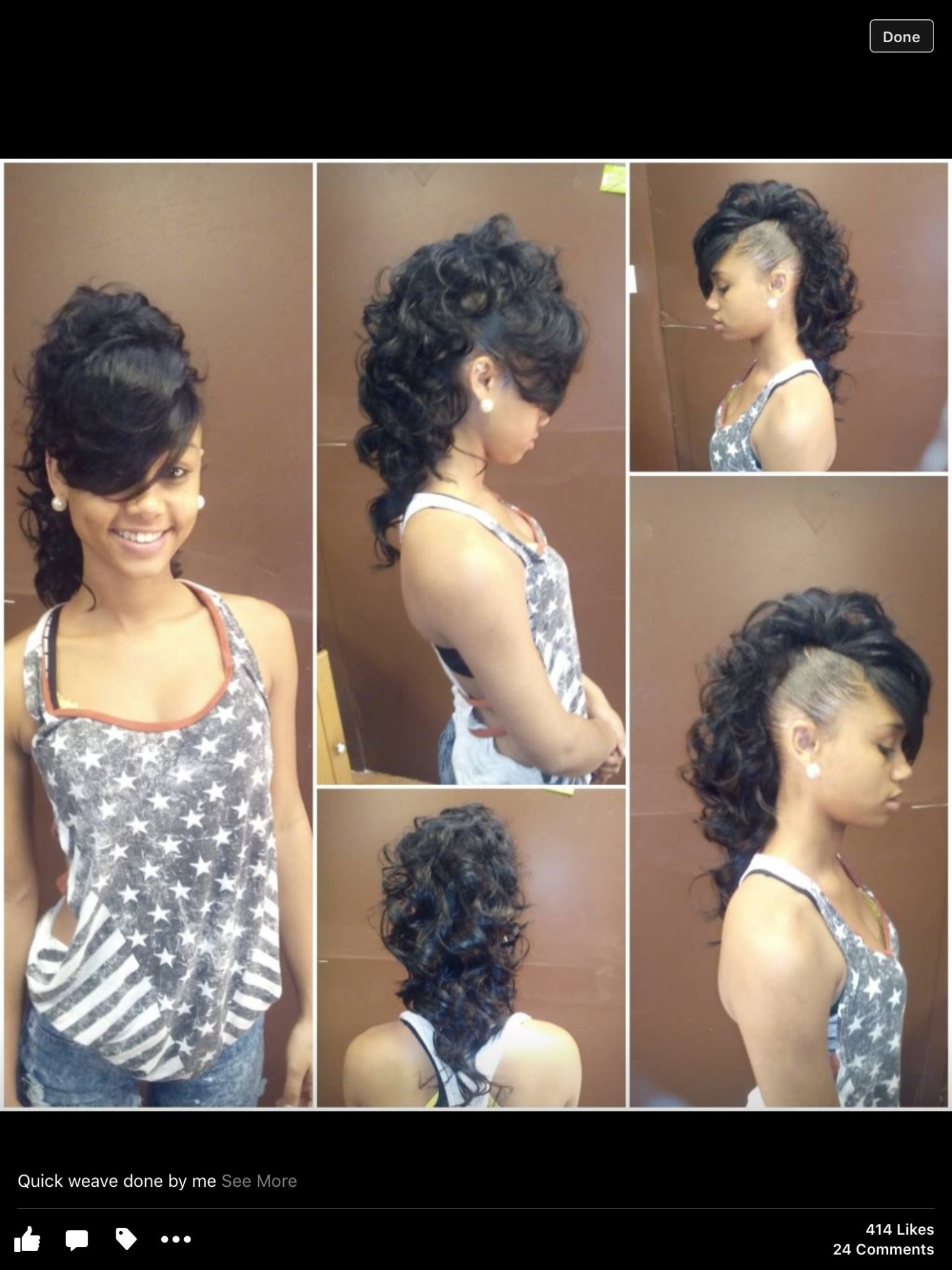 Pin On My Work Short Mohawk Hairstyles With Weave
