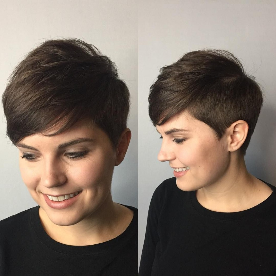 Pin On Pixies & Short Hair Cuts Side Swept Pixie Cut