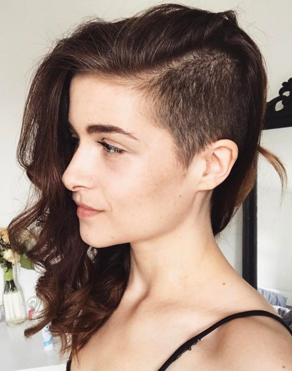 Pin On Style Long Hair Short Sides Female
