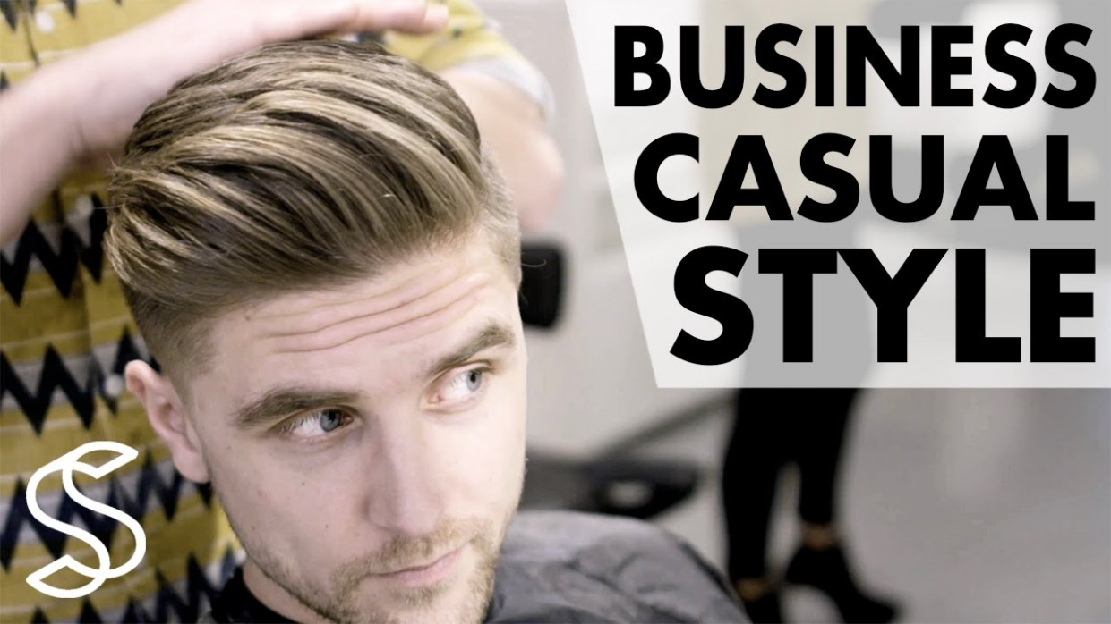 Professional men's hairstyling - Business casual - Short sides 11k hairstyle  Slikhaar TV hairstyles