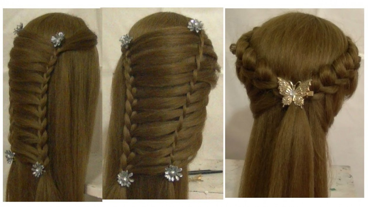 Prom Hairstyles For Medium Long Hair Tutorial & Side French Braid Hairstyle  For Long Straight Hair
