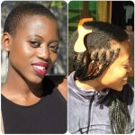 Protective Braiding Hairstyle For A TWA African Braids Box Braids On Very Short Natural Hair