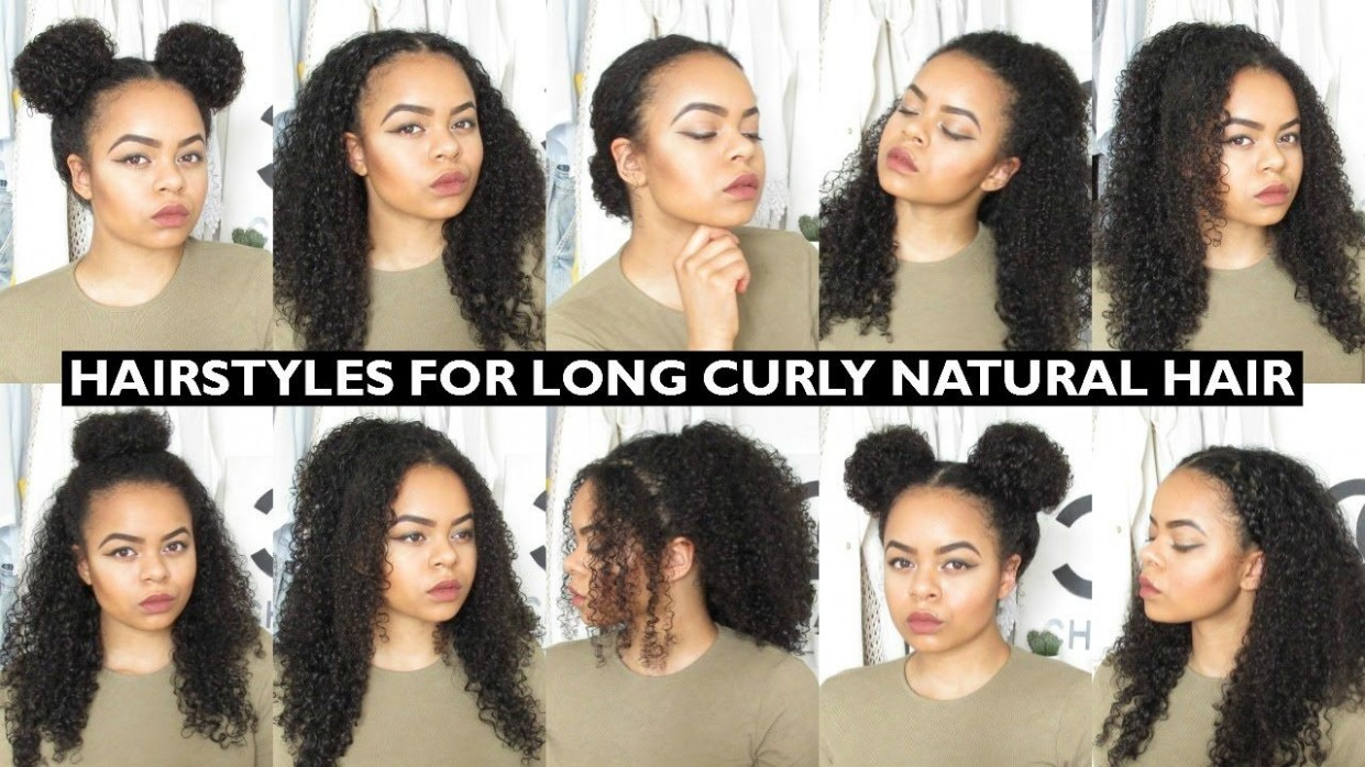 Quick Hairstyles For Long Natural Hair #hairstyles Cute Simple Hairstyles For Curly Hair