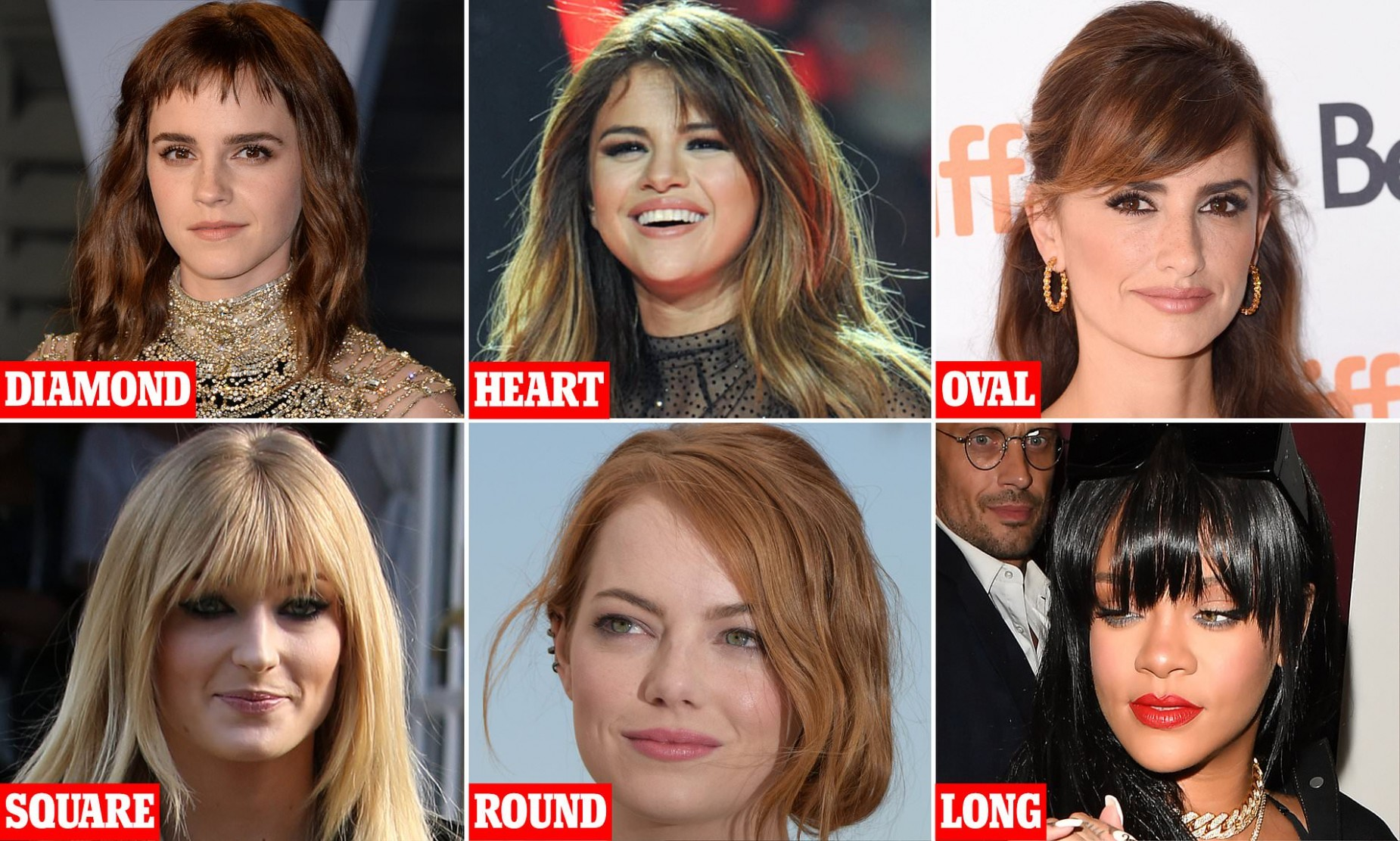 Revealed! The perfect fringe for YOUR face shape  Daily Mail Online