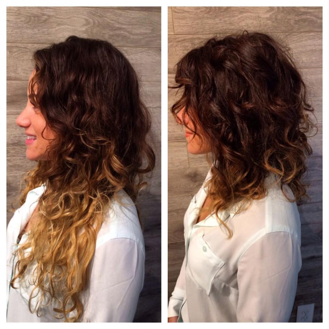 Saying Goodbye To Summer Ends #Lob #Curly #FallHair Short Curly Lob Haircut For Curly Hair