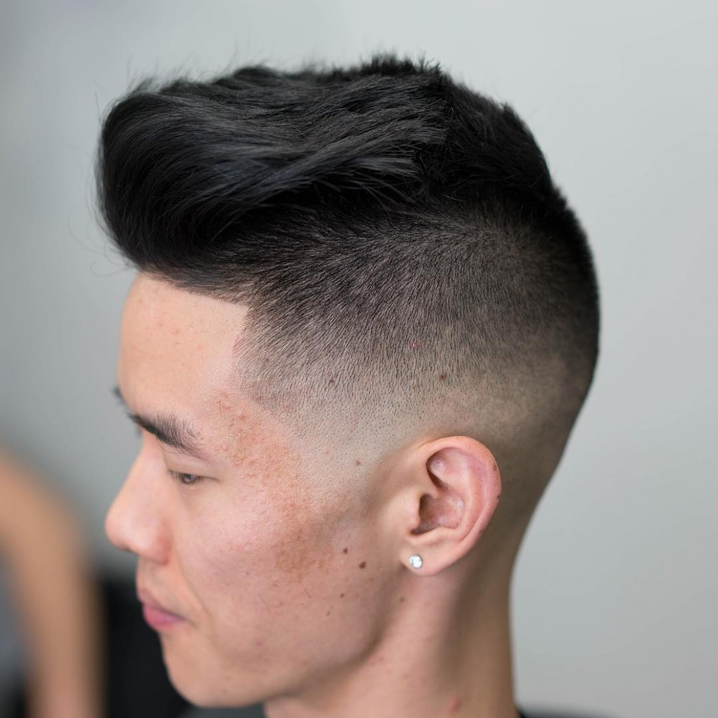 Shaved Sides Haircuts > 12 Cool Fade Styles For December 12 Shaved On Sides Long On Top