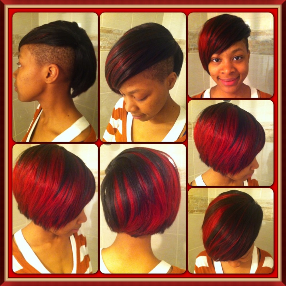 Short bob with shaved side feat Tania V  Love Yourself, Love Your