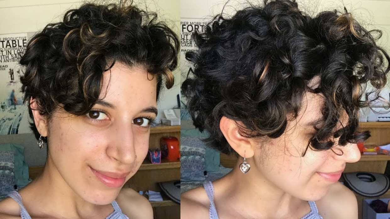 Short Curly Hair Routine Long Pixie Cut Long Curly Pixie