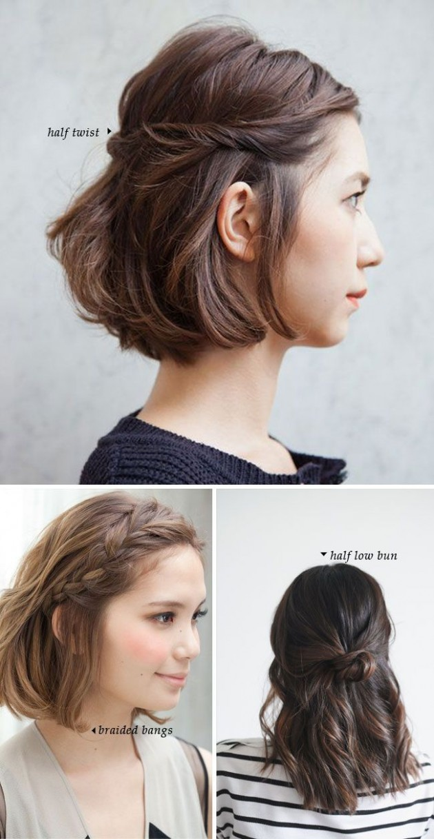 Short Hair Do's / 12 Quick And Easy Styles Hair Styles, Short Cute Hairstyles For Short Hair With Bangs