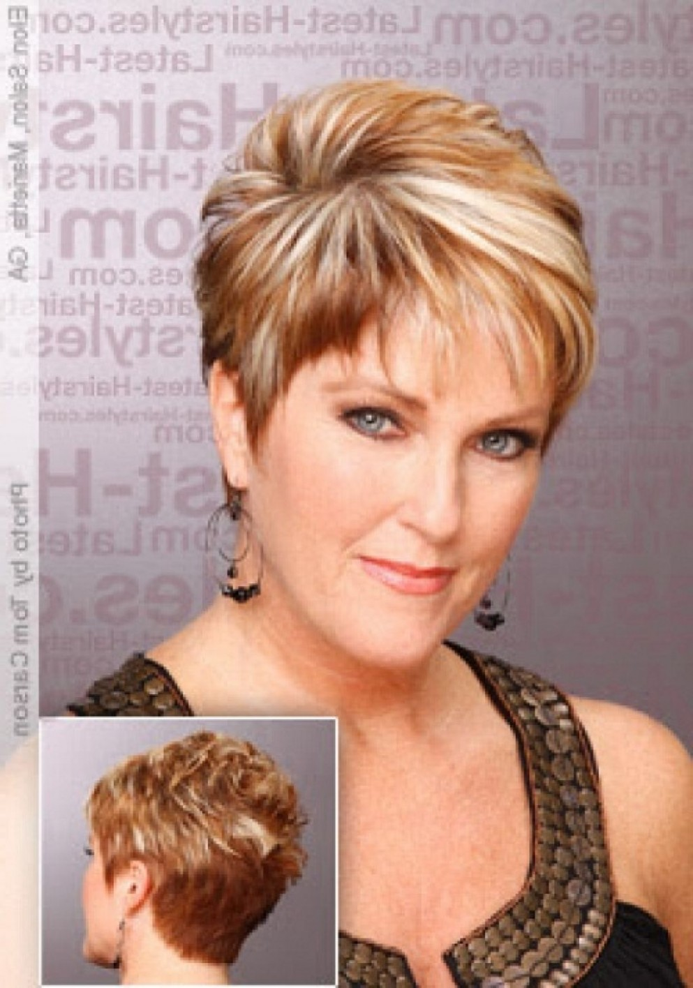 Short Haircuts For Women Front And Back View Short Hairstyles For Hairstyles For Long Faces Over 40