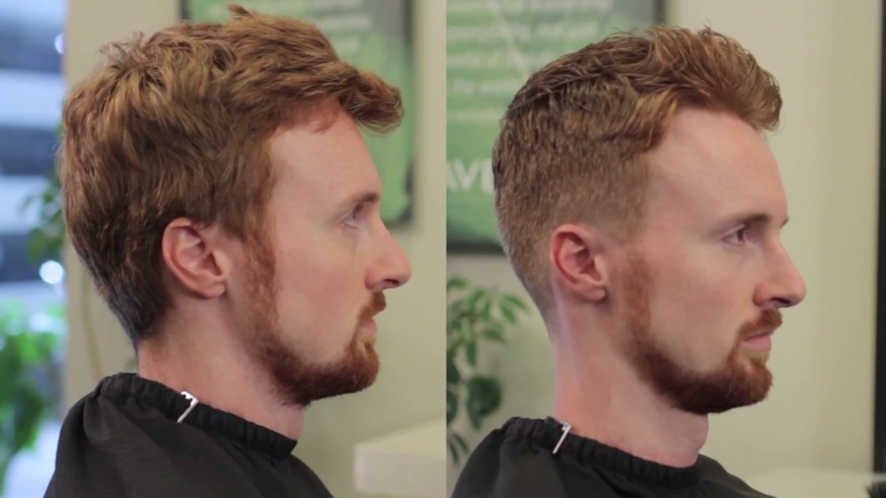 Short Men's Haircut With Clipper Over Comb Cutting Long Hair With Clippers