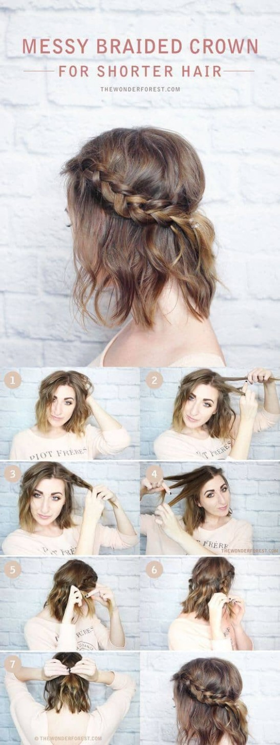 simple hairstyles for short straight hair