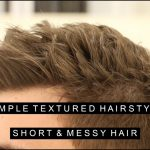 Simple Textured Hairstyle Messy Short Hair For Men Layered And Volume Short Messy Hair Men