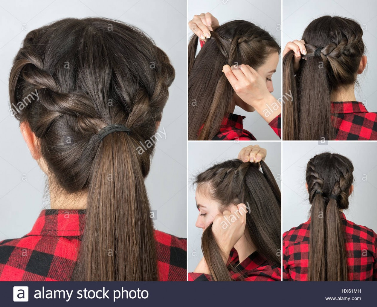 simple twisted hairstyle tutorial step by step. Easy hairstyle for