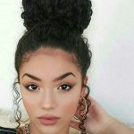 Simply Gorgeous Curly Hair Styles, Curly Bun Hairstyles, Curly Curly Hair Bun Hairstyles