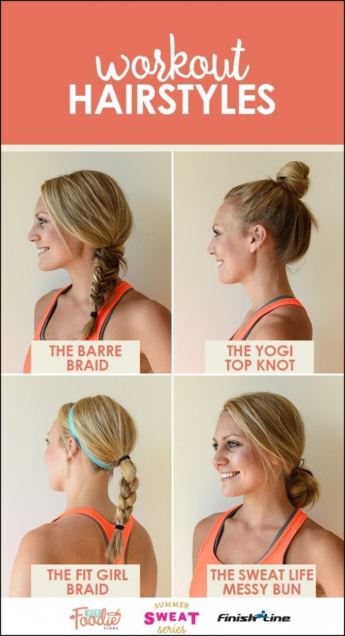 Sports Hairstyles For Short Hair Workout Hairstyles, Sporty Workout Hairstyles For Short Hair
