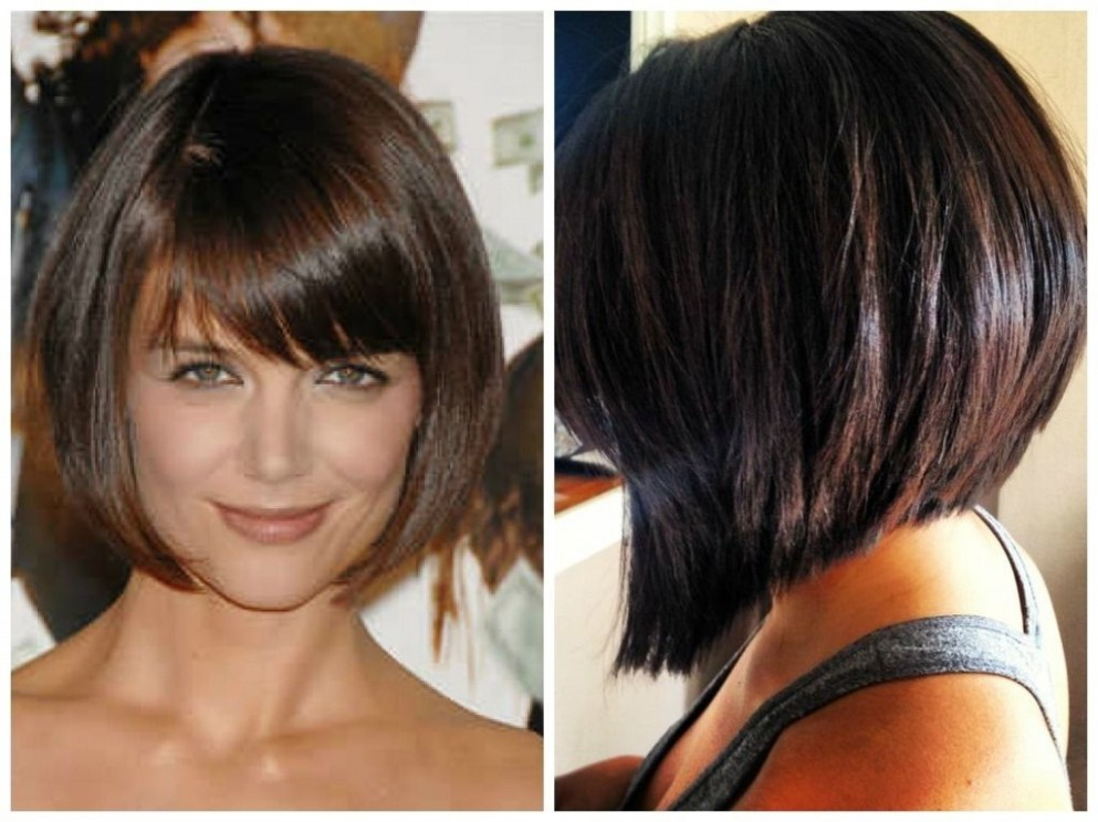 Stacked Bob With Side Bangs A Selection Of Short Inverted Bob Inverted Bob With Side Bangs