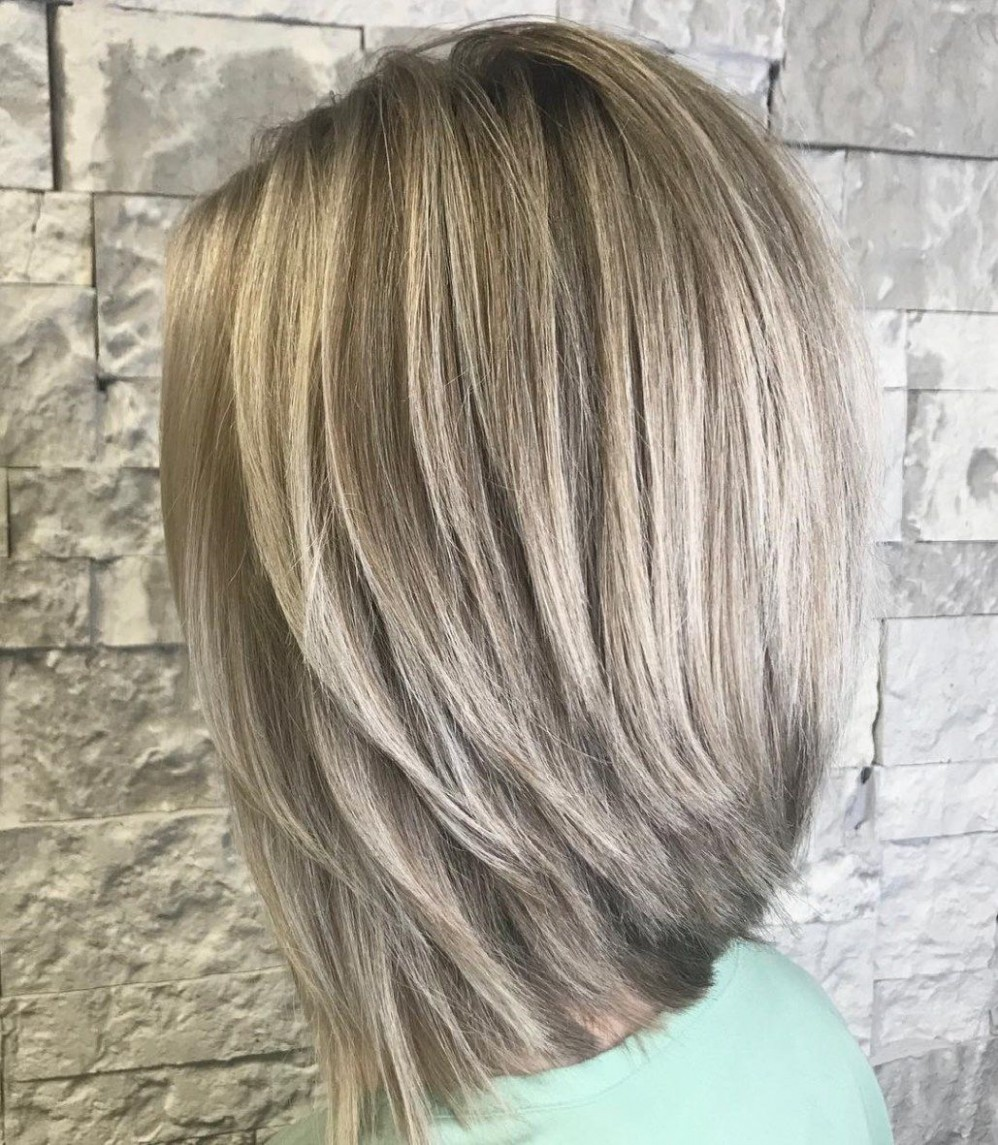 Straight Thick Inverted Lob Inverted Long Bob, Bob Hairstyles Inverted Lob Haircut