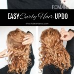 Super Easy Updo Hairstyle Tutorial For Curly Hair Hair Romance Easy Curly Hair Updos