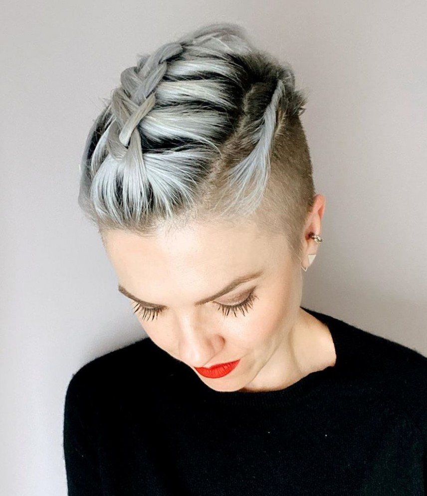 The 12 Coolest Shaved Hairstyles For Women Hair Adviser Shaved On Sides Long On Top