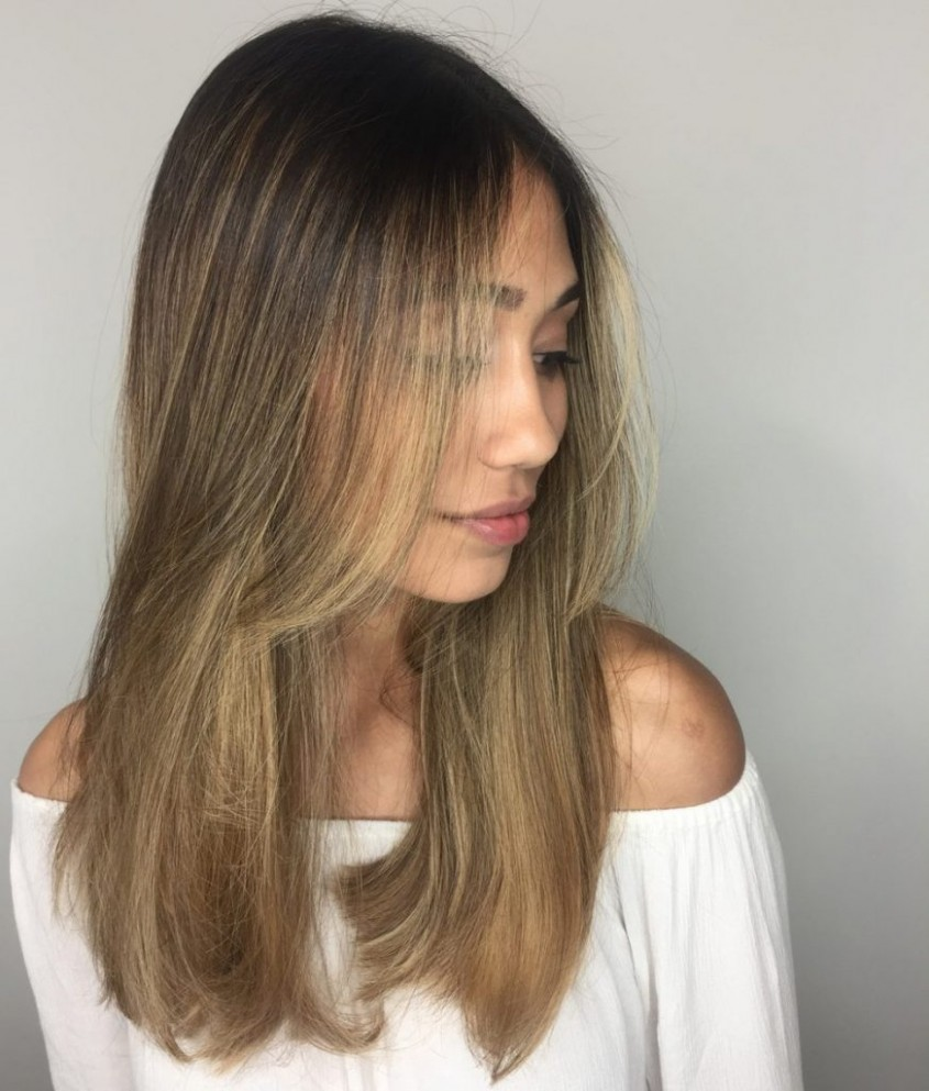 The Best Long Haircuts Glam & Gowns Blog Long Front Layers
