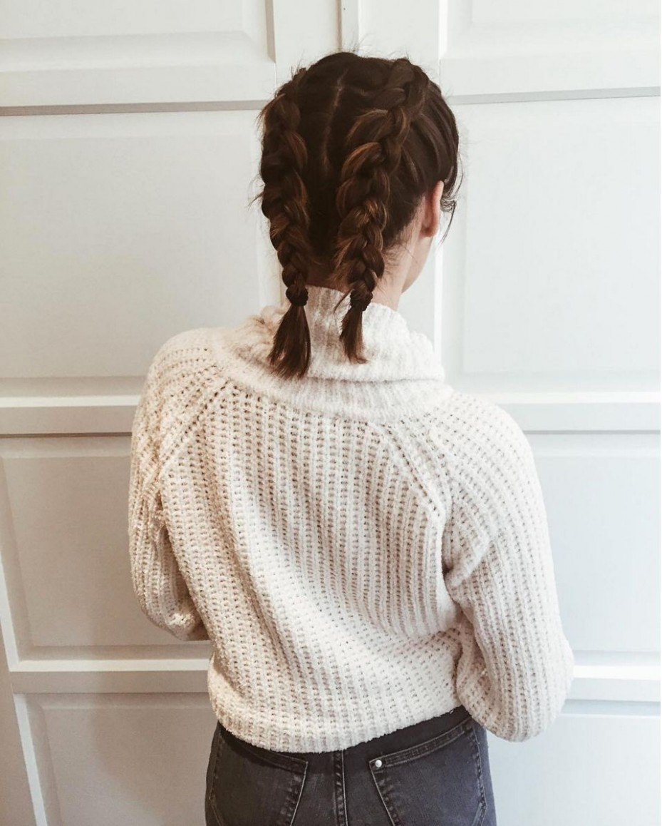 The Best Plaits On Instagram French Braid Short Hair, Short Hair Boxer Braids Short Hair
