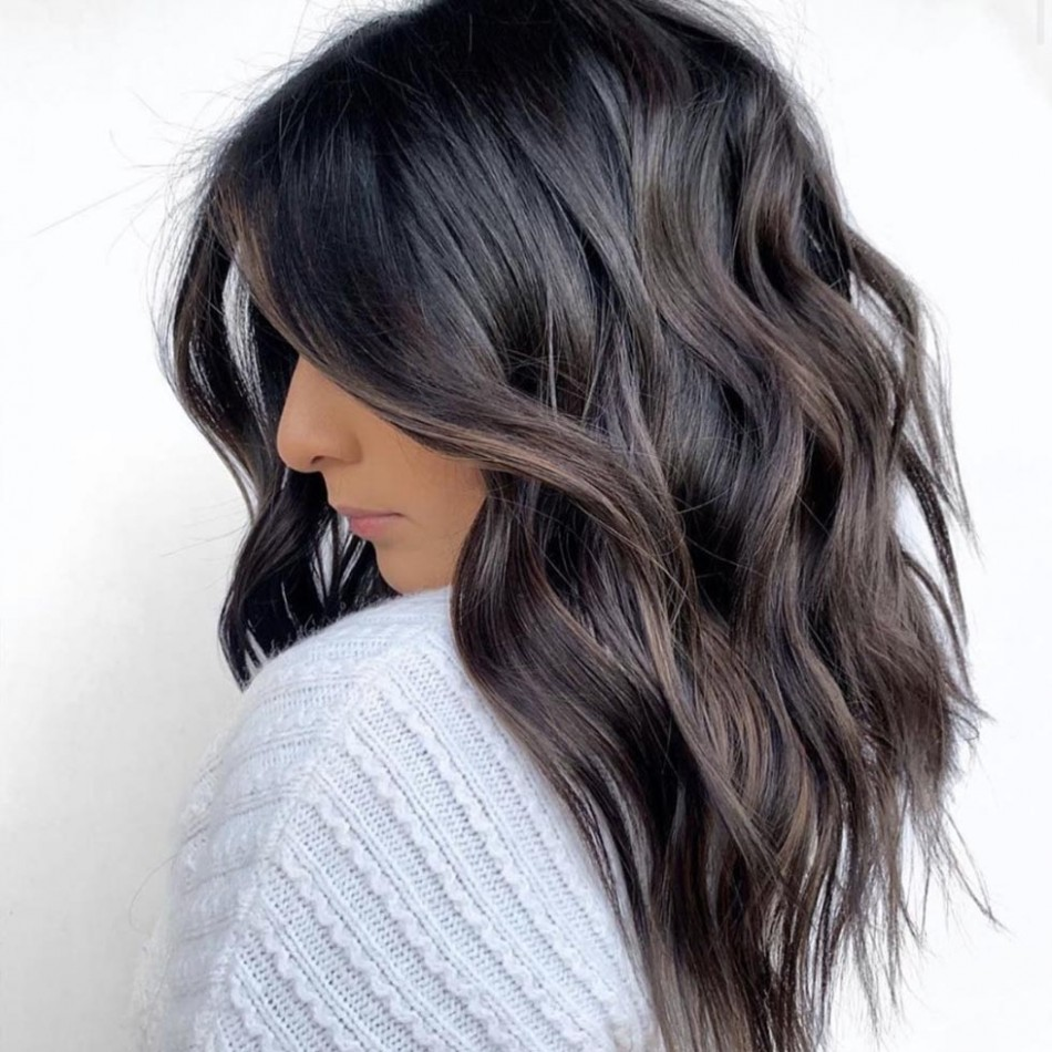 The Most Flattering Medium Length Brown Hairstyles To Try In 12 Mid Long Haircut