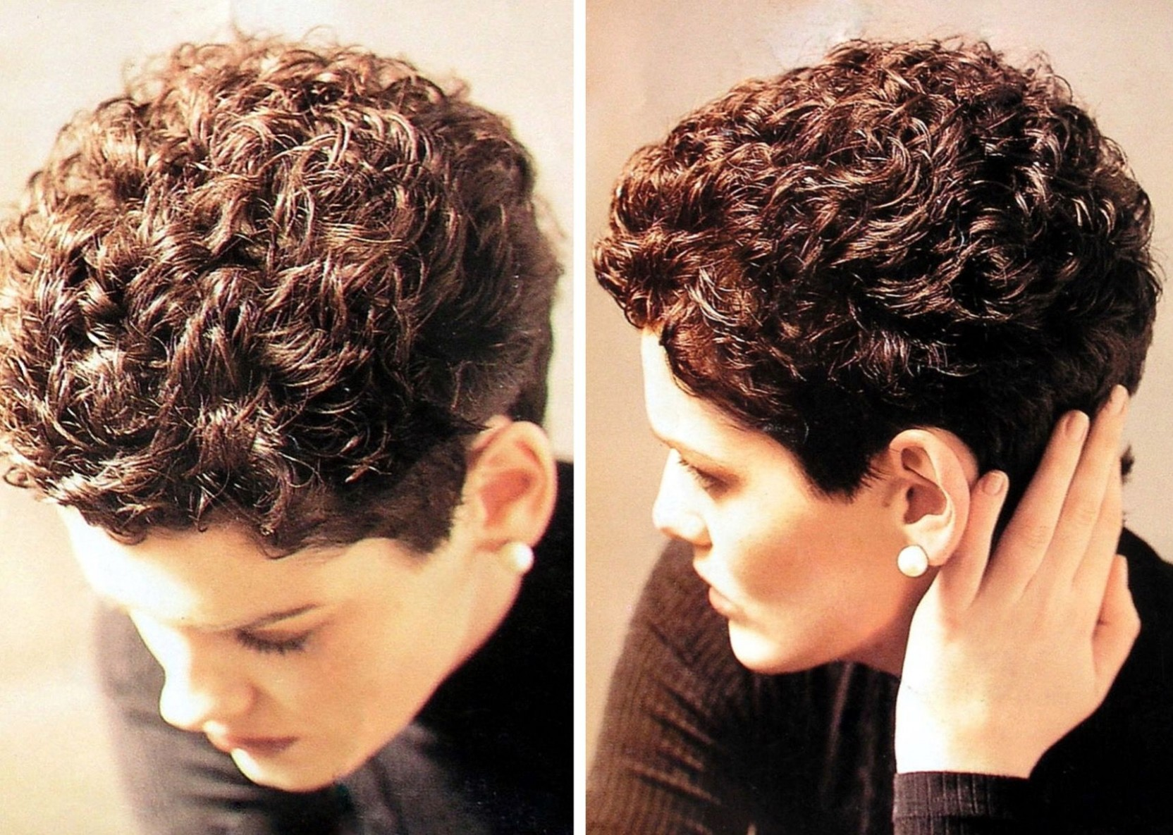 The perm is cute  Permed hairstyles, Short hair styles, Short