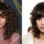 Tips For Great Bangs With Curly Hair Allure Curly Hair And Straight Bangs