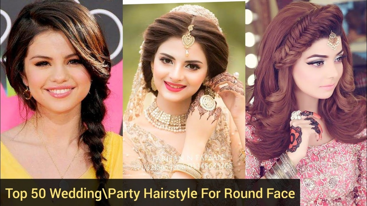Top 9 BridalParty Hairstyle For Round Face Latest Top Trendy Round Face  Hairstyle 9 Best Ideas