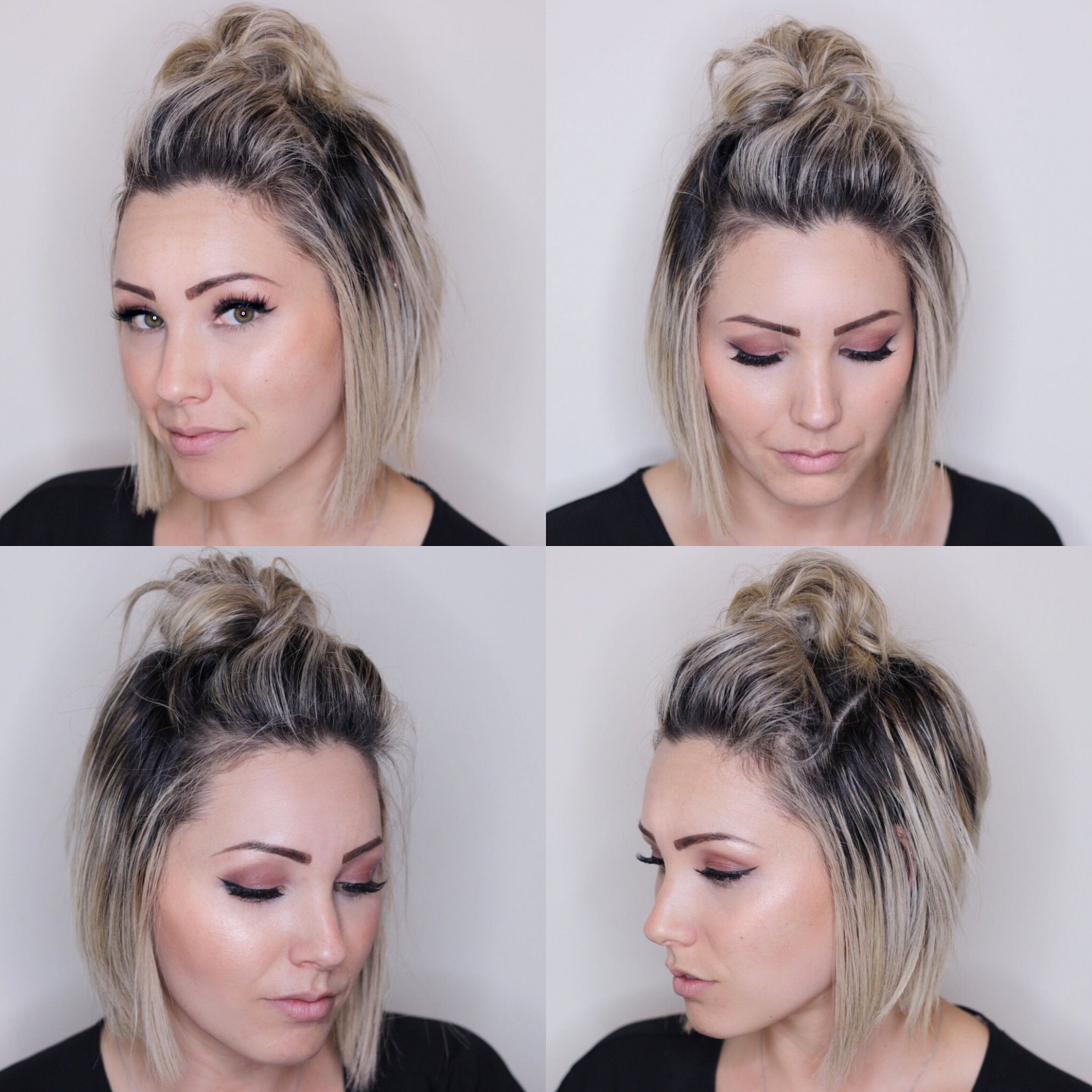 Top Knot For Short Hair Short Hairstyle