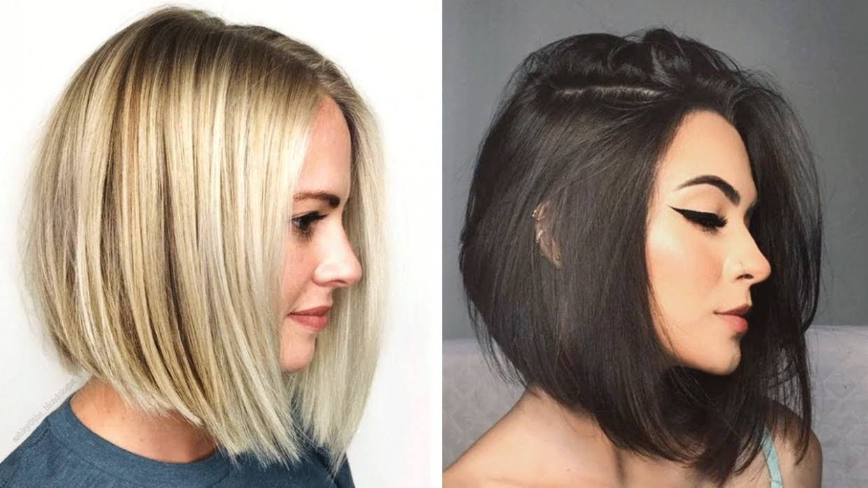 Unique Angled Bob Haircuts For Women In 12 12 Short Shag Hairstyle Compilation Pretty Hair Slanted Haircut