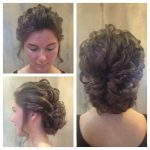 Updo By Katie Loose Curls Into A Low Bun