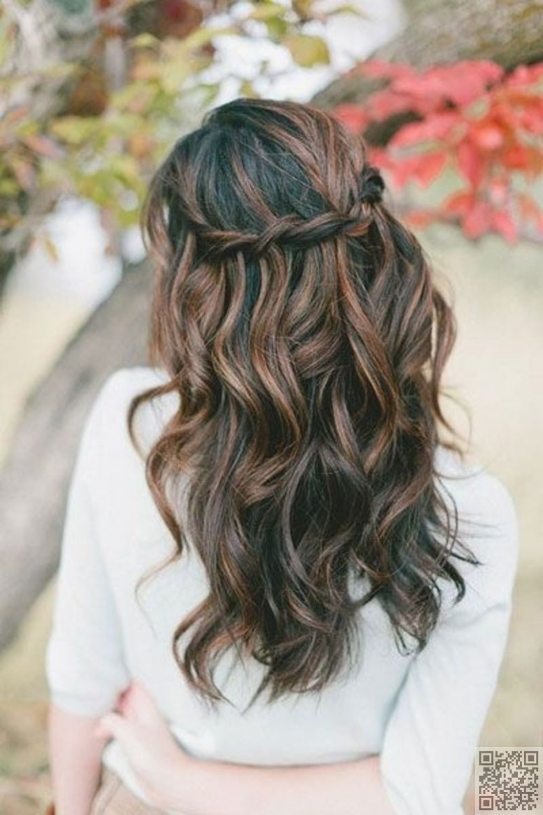 Waterfall Braid and Waves  Prom hairstyles for long hair, Braids