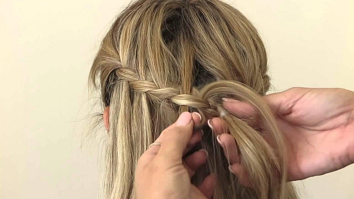 Waterfall braid with glamorous curls by Oz Beauty Expert