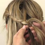Waterfall Braid With Glamorous Curls By Oz Beauty Expert Waterfall Braid With Curls