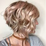 Wavy Inverted Bob With A Hint Of Pink Hair Styles, Wavy Bob Inverted Bob Curly Hair