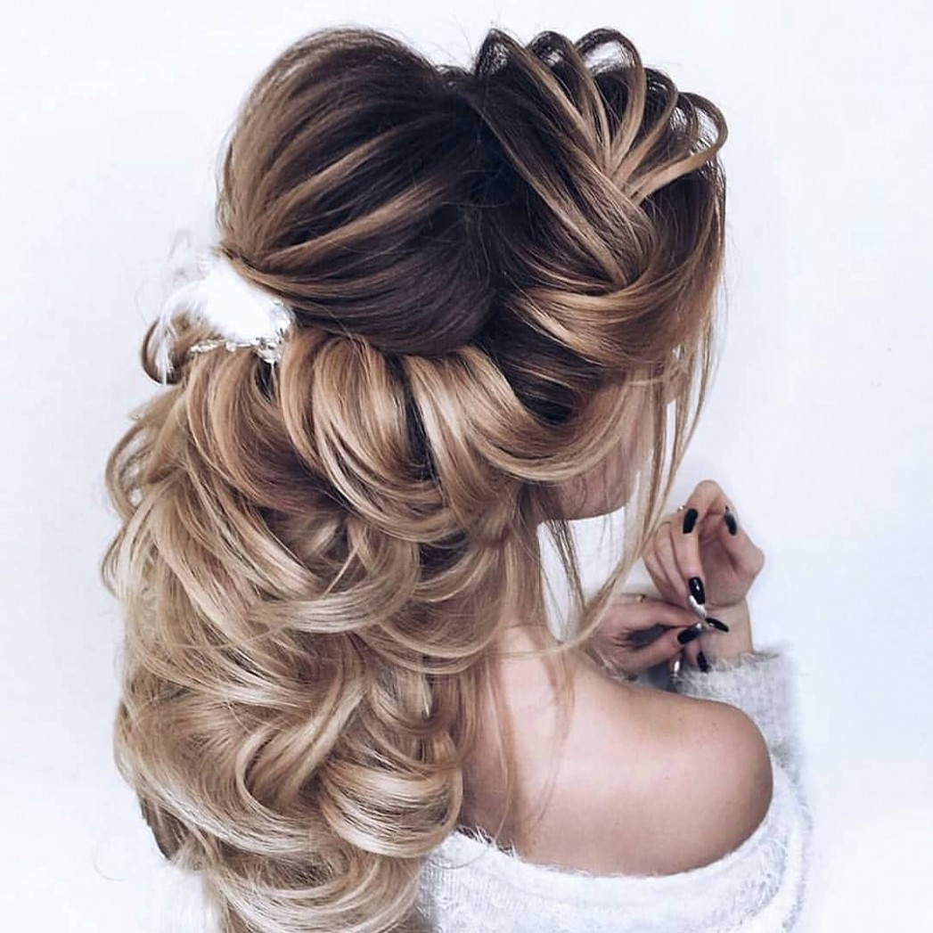 Wedding hairstyles half up half down for short and long hair – Gazzed