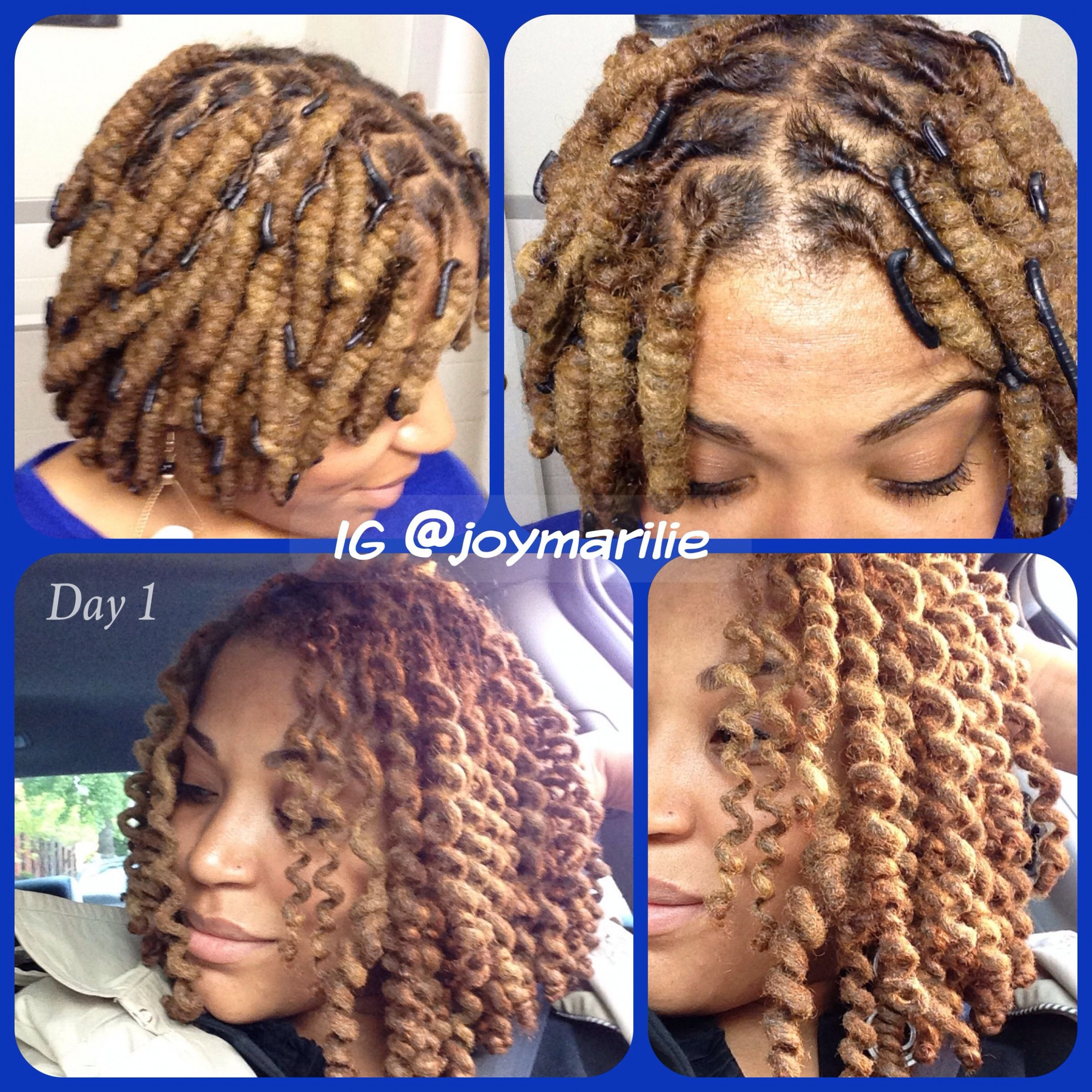 Wrap-a-loc curls. Day one. Perfect loc spirals  Locs hairstyles